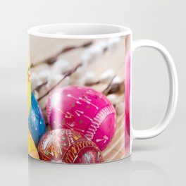 Easter eggss and fluffy chickens Coffee Mug