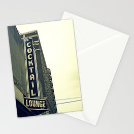 Cocktail ~ chicago vintage sign Stationery Cards