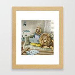 Leo Sign Framed Art Print
