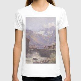 Hoher Dachstein From Lower Gosau 1838 by Rudolf von Alt | Reproduction T-shirt