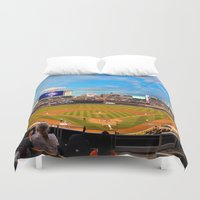 minnesota Duvet Covers featuring Minnesota Twins by John Andrews Design