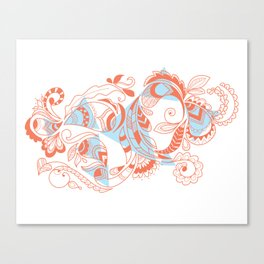 Tribal Paisley Canvas Print