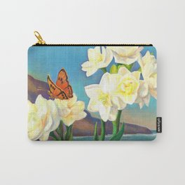 A Morning Greeting From Narcissus Flowers Carry-All Pouch