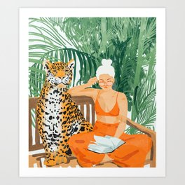 Jungle Vacay #painting #illustration Art Print
