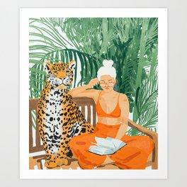 Jungle Vacay #painting #illustration Art Print