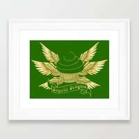 verse Framed Art Prints featuring Sweetshop Verse by Night Of The Living Fig