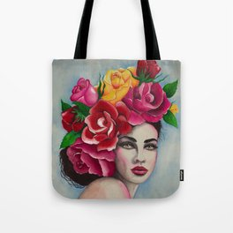 Flower Power Roses by Andrea Tote Bag