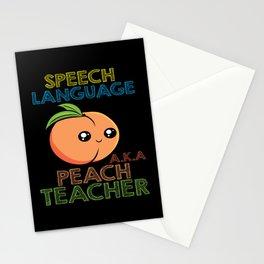 Speech Pathology Speech Therapist Peach Design Stationery Cards