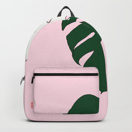Monstera Variegata (Pink) Backpack