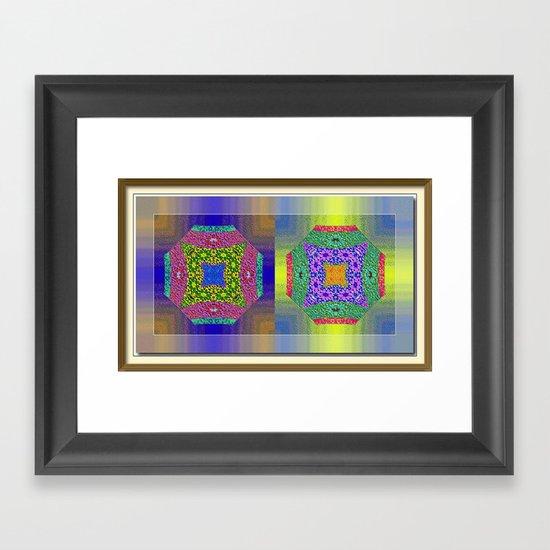 Twin Mandalas Framed Art Print