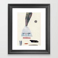 volacno and moon Framed Art Print