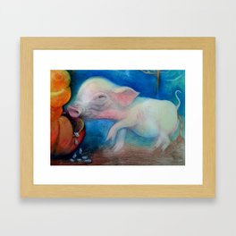 One Pig  Framed Art Print