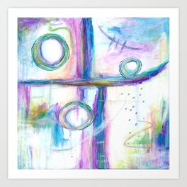 Just the Three of Us, Abstract Art Painting Art Print