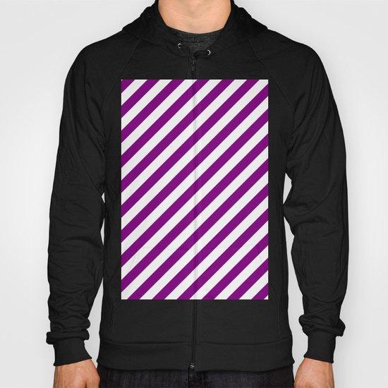 Diagonal Stripes (Purple/White) Hoody