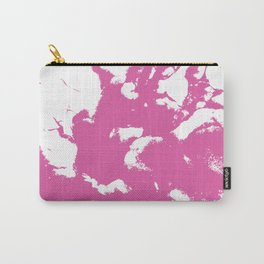 Marble pink 1 Suminagashi watercolor pattern art pisces water wave ocean minimal design Carry-All Pouch