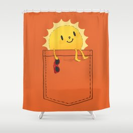 Pocketful of sunshine Shower Curtain