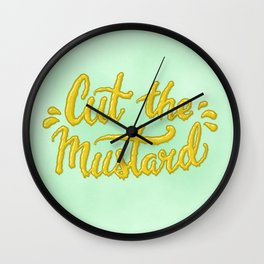 Cut the Mustard Wall Clock