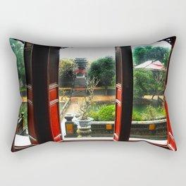 Buddhist Temple, Hue, Viet Nam Rectangular Pillow
