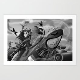Bad Girls (gray scala) Art Print
