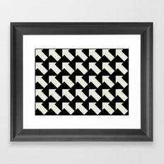 White Arrows Framed Art Print
