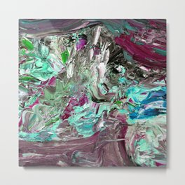 Very Berry Mint Ice Cream Metal Print