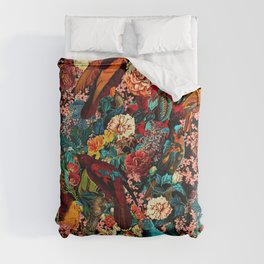FLORAL AND BIRDS XVII Comforters
