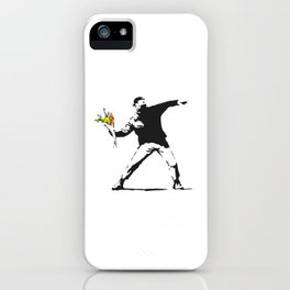 Love Is In The Air (Flower Thrower) - Banksy Graffiti iPhone Case