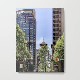 Photograph of the Vancouver Lookout Shot from Burrard Street, Downtown Vancouver Metal Print