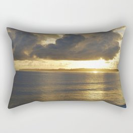 Sunrise with storm colouds Rectangular Pillow