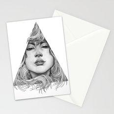 Triangle Portrait Stationery Cards