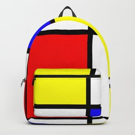 Mondrian 4 #art #mondrian #artprint Backpack
