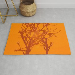 Sunlight and Tree Silhouettes Rug