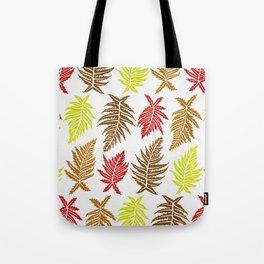 Inked Ferns – Autumn Palette Tote Bag