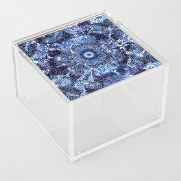 Iris Mandala Blue Acrylic Box