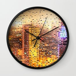 Rain Water drops Wall Clock