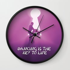 dancing is the key to life Wall Clock