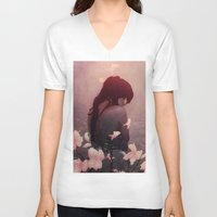 ghost V-neck T-shirts featuring Ghost Exposure by Alex Craig