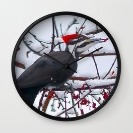 April Pileated Wall Clock