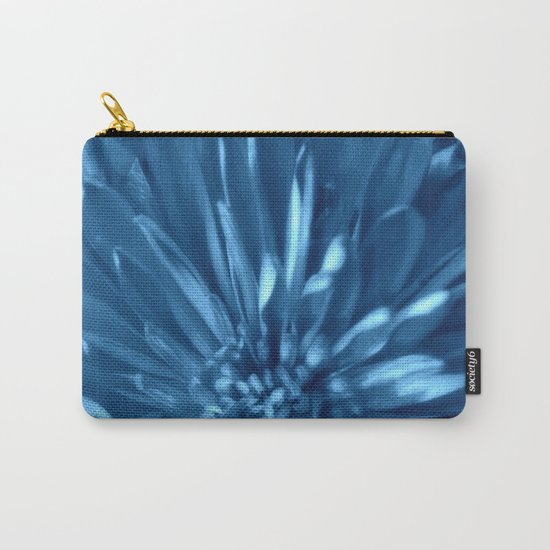 Flower | Flowers | Sky Blue Mums Carry-All Pouch