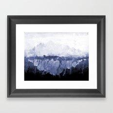 Paint 5 abstract water ocean arctic iceberg nature ocean sea abstract art drip waterfall minimal  Framed Art Print