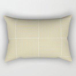 carreaux rayures stripes moutarde Rectangular Pillow