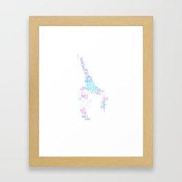 Word Cloud Gymnast Framed Art Print