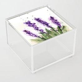 Watercolored Lavender Acrylic Box
