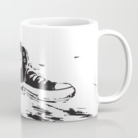 converse Mugs featuring CONVERSE by PixelRiff