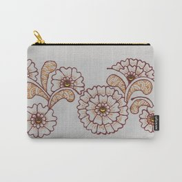 Red and Gold Flower Carry-All Pouch