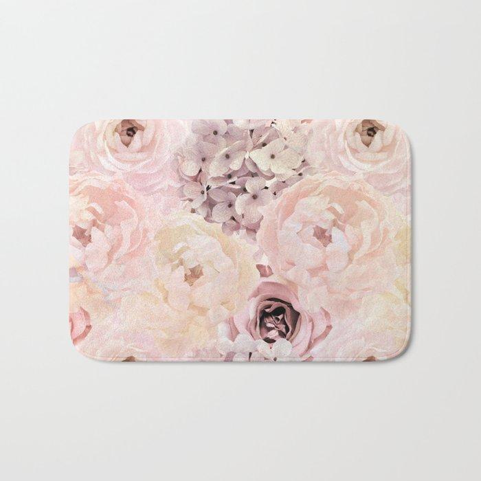 Midsummer Roses- Vintage Rose Pattern Bath Mat
