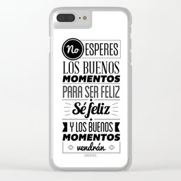 Quotes Clear iPhone Case