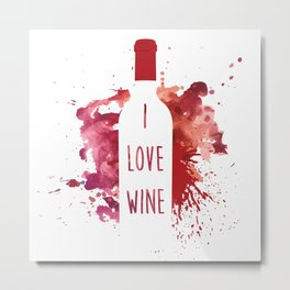 wine bottle Metal Print