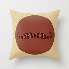 Feather Mustache Throw Pillow