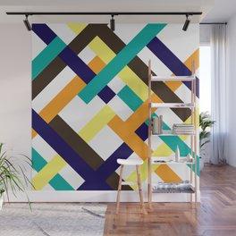 "Geometric Print ""Broken Weave"" Wall Mural"